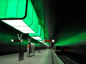 U4 HafenCity - bunte Haltestelle