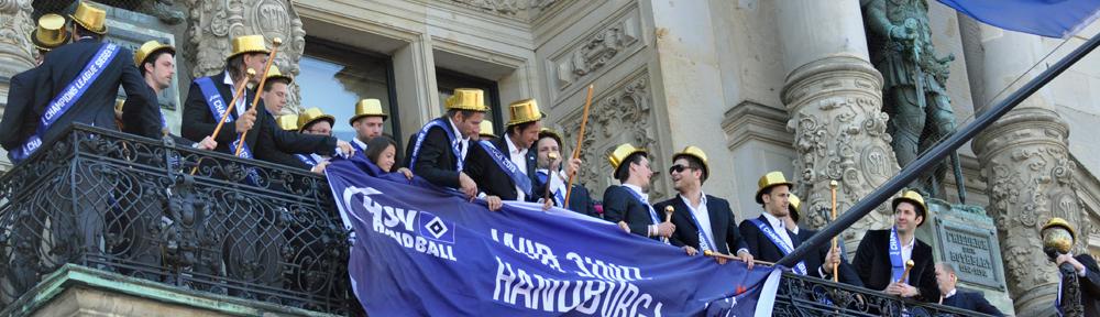 HSV Handball feiert CL-Titel auf dem Rathausmarkt