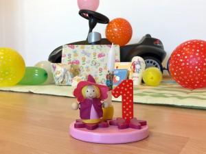 Erster Geburtstag: Figur, Kerze und Geschenke - Wiebkes Welt