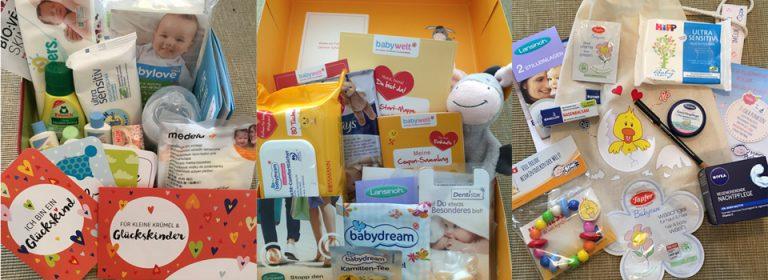 Willkommens-Pakete: Geschenke für Baby und Mama.