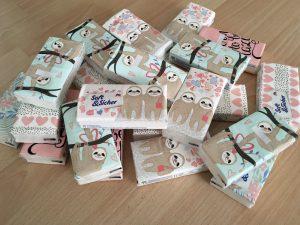 Taschentücher mit Faultieren gegen die Wochenbett-Tränen| Wiebkes Welt
