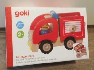 goki Feuerwehrauto Holzspielzeug