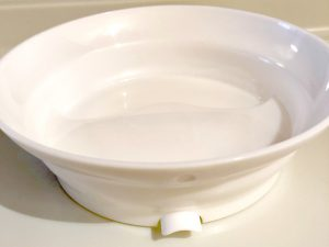 primamma click & eat Esselernteller - der Teller wird am Saugnapf befestigt