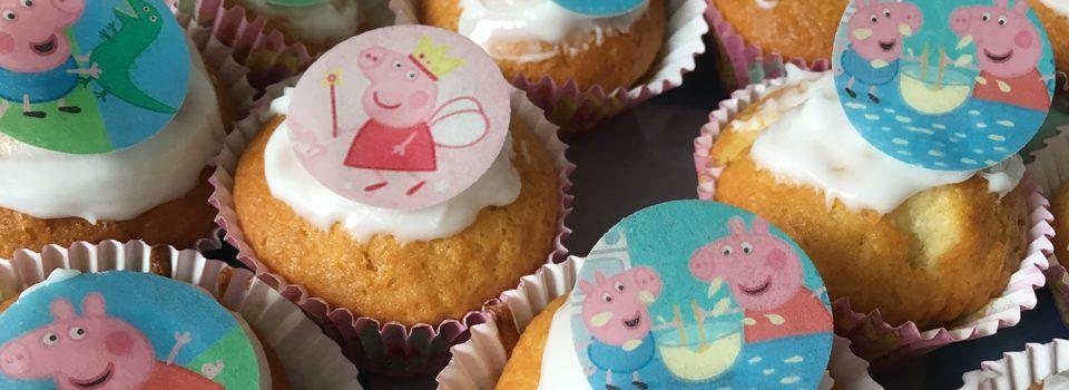 Peppa Pig Muffins zum Kindergeburtstag